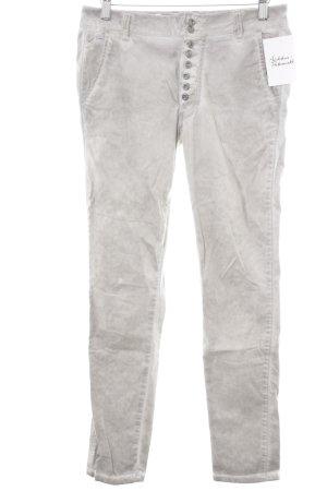 Buena Vista Slim Jeans hellgrau Farbtupfermuster Vintage-Look