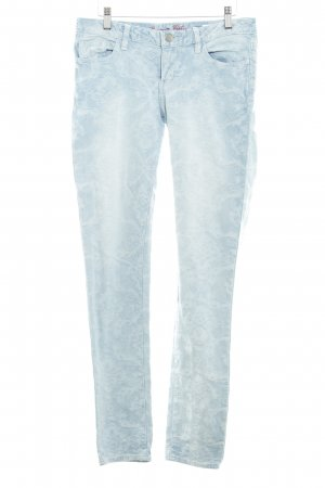 Buena Vista Slim Jeans himmelblau-kornblumenblau florales Muster Romantik-Look