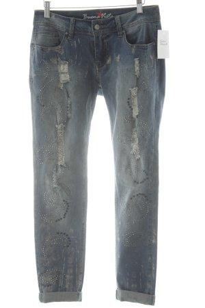 Buena Vista Slim Jeans kornblumenblau Destroy-Optik
