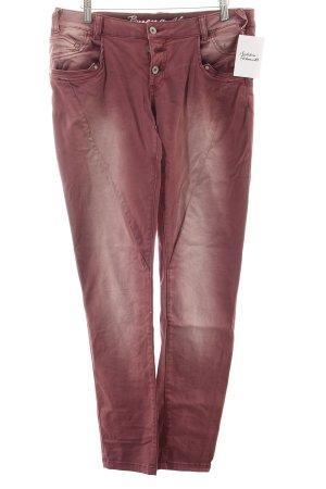 Buena Vista Slim Jeans rostrot Washed-Optik