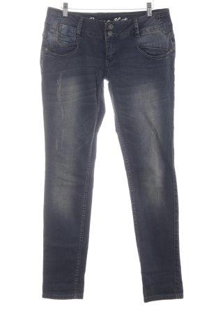 Buena Vista Straight-Leg Jeans graublau-blassblau Destroy-Optik