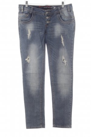 Buena Vista Straight-Leg Jeans mehrfarbig Used-Optik