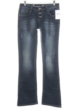 Buena Vista Straight-Leg Jeans stahlblau Used-Optik