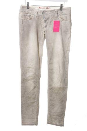 Buena Vista Stretch Jeans hellgrau-wollweiß Casual-Look