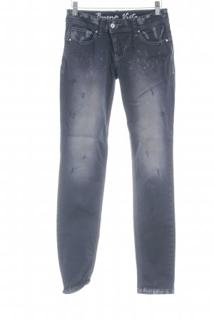 Buena Vista Stretch Jeans dunkelblau Farbtupfermuster Destroy-Optik