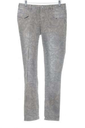 Buena Vista Stretch Jeans grau-anthrazit Allover-Druck Casual-Look