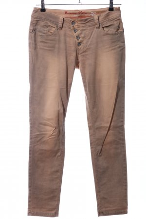 Buena Vista Stretch Trousers brown-natural white color gradient casual look