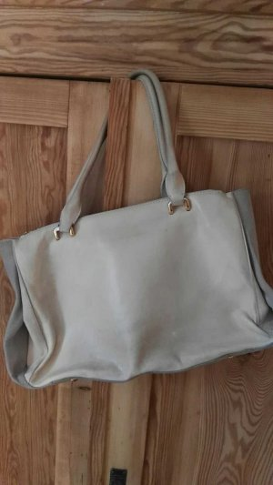 H&M Briefcase grey brown-cream