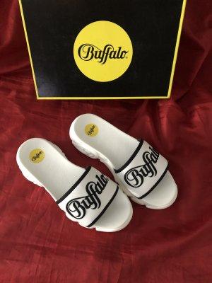 Buffalo Beach Sandals white-black