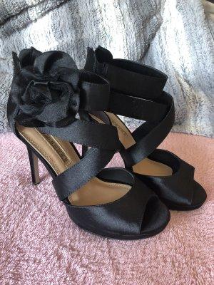 Buffalo Platform High-Heeled Sandal black
