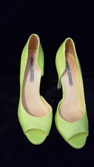 Buffallo High Heels in neon gelb/grün