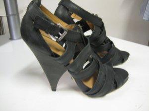 Buffallo Sandalette Leder schwarz Gr 38