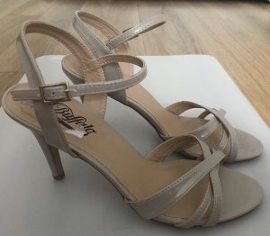Buffalo Strapped High-Heeled Sandals beige-nude