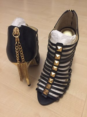 Buffalo High Heel Sandal gold-colored-black