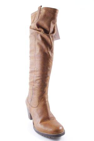 Buffalo Absatz Stiefel cognac-dunkelbraun Casual-Look