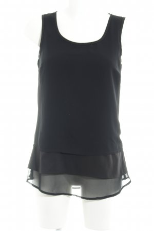 Buffalo Mouwloze blouse zwart elegant