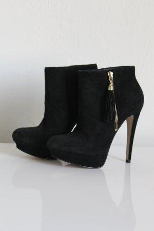 Buffalo Botas de tobillo negro Cuero