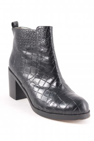 Buffalo Ankle Boots schwarz Reptil-Optik