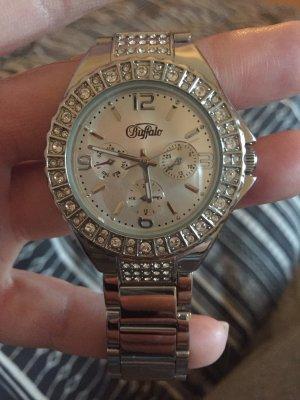 Buffalo Armbanduhr Silber
