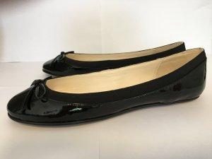 Buffalo London Patent Leather Ballerinas black