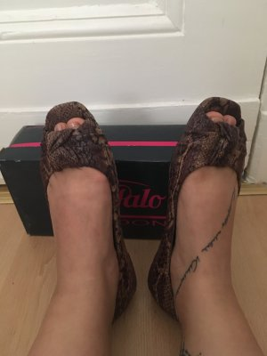 Buffalo London Peep Toe ballerina's veelkleurig