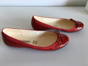 Buffalo Patent Leather Ballerinas brick red