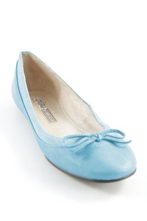Buffalo Ballerinas mit Spitze hellblau-beige klassischer Stil