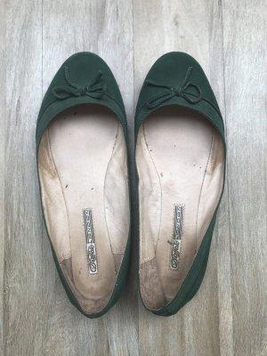 Buffalo Ballerinas Wildleder - dunkel grün