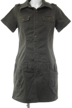 Buffalo Blusenjacke olivgrün-khaki Jeans-Optik