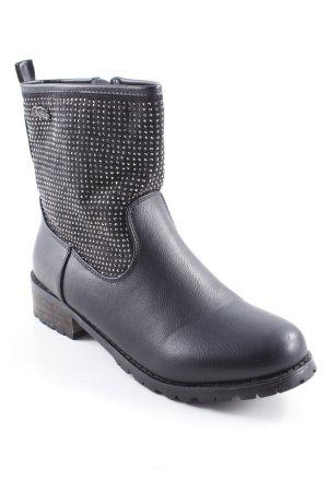 Buffalo Booties schwarz-silberfarben Street-Fashion-Look