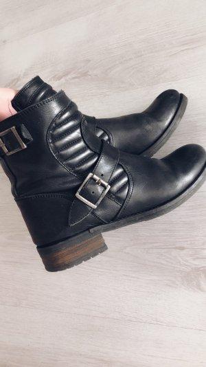 Buffalo Cothurne noir cuir