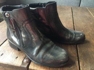 Buffalo Boots aus Leder, grau meliert