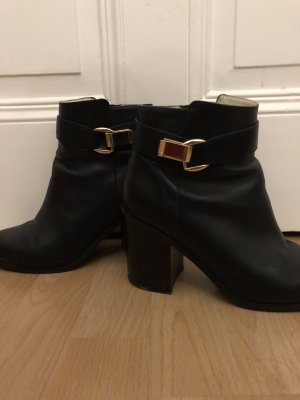 Buffalo boots leder gold schnalle ankleboots