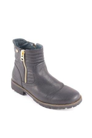 Buffalo Boots schwarz Biker-Look