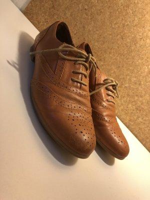 Buffalo London Zapatos Budapest marrón claro-coñac Cuero