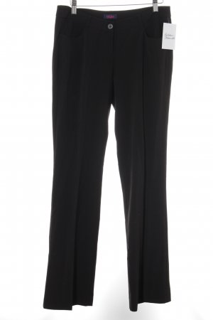 Buffalo Bundfaltenhose schwarz Business-Look