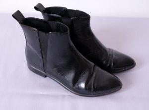 buffalo chelsea boots lack leder schwarz minimal 38 38.5