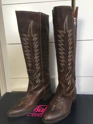 Buffalo London Western Boots brown-black brown leather