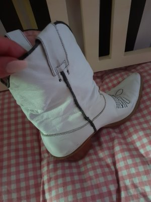 Buffalo Western Booties white leather