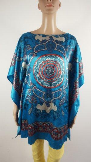 Buffalo Damen Tunika Strandtunika Satinponcho orientalisches Muster Größe 36/38