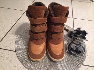 Buffalo Echtleder Sneaker / Wedges mit Keilabsatz in 40