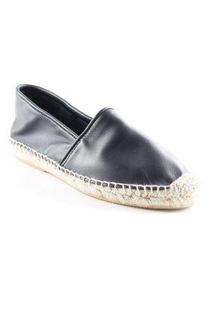 Buffalo Espadrilles-Sandalen schwarz-sandbraun klassischer Stil
