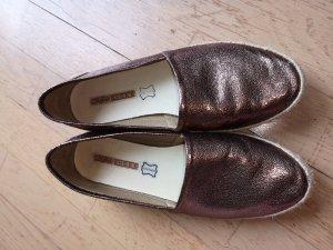 Buffalo Espadrilles Sneaker Gr. 40 bronze metallic