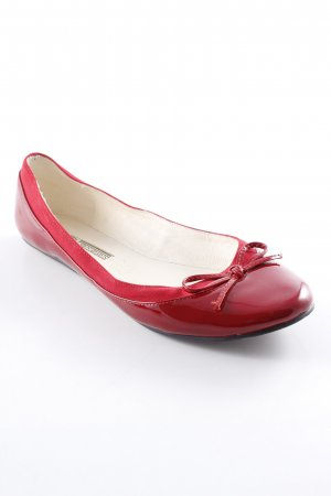 Buffalo Ballerines pliables rouge style cuir
