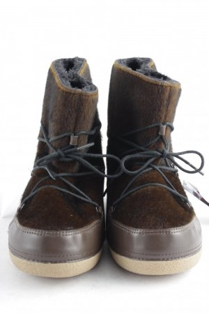 Buffalo Fur Boots dark brown-brown polyester