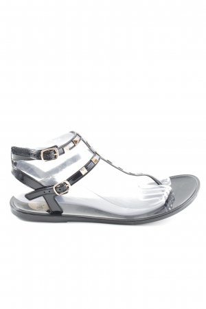 Buffalo Flip-Flop Sandals black-gold-colored casual look