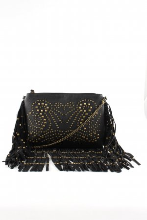 Buffalo Fringed Bag black-gold-colored casual look