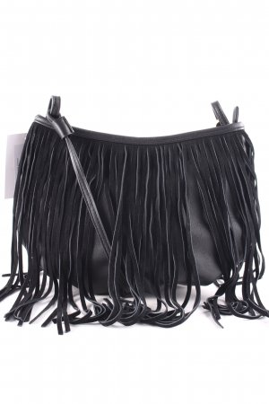 Buffalo Fringed Bag black Boho look
