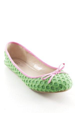 Buffalo girl faltbare Ballerinas grün-pink Colourblocking Casual-Look