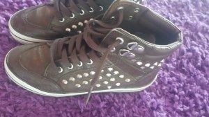 Buffalo girl High Top Sneaker silver-colored-dark brown